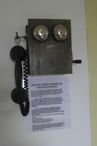 The phone at Fitzroy, used by the local settlers and the Paras to confirm the Argentine withdrawal.