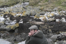 Our friend Matthew painting quite the Falklands scene