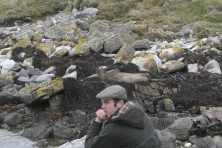 Our friend Matthew painting quite the Falklands scene