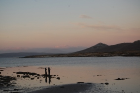 Fishing for mullet in front of the house at sunset. Lovely stuff