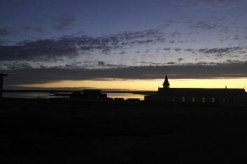 Goose Green at sunset