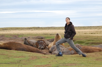 The Elephant Seal lunge, especially for Lee