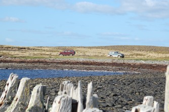 The landscape seen by those shipwrecked, minus the cars of course
