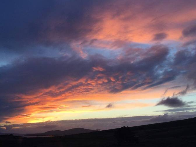 Falklands sunsets rival anywhere