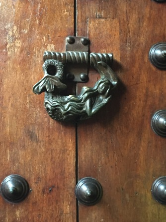 The door knockers denoted careers: fishermen had mermaids