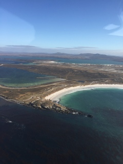 Heading home, Falklands from above