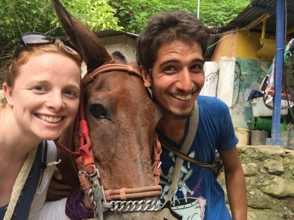 Mule selfie with Frederico, our excellent translator