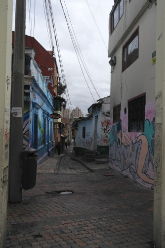The old streets/aqueducts of Bogota