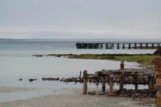 There old jetty, once the source of everything arriving on the Island