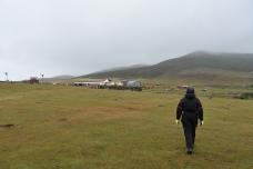 Walking from the settlement to Port Egmont isn't far