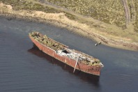 Shipwrecks aplenty look excellent from the air