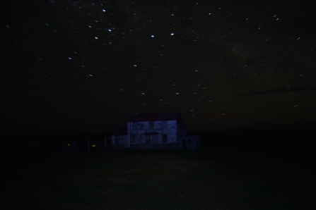 By night, the Falkland clear skies. No chance of light pollution here!