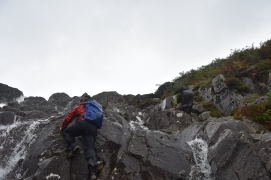 A wet climb even without the rain