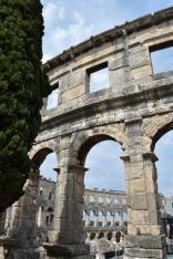 Pula's impressive amphitheatre