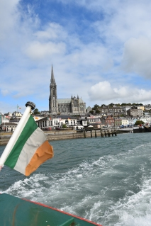 Taking the boat out to Spike Island from Cobh