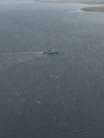 HMS Clyde on patrol