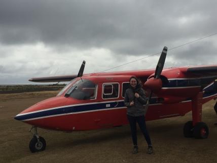 Ellie's first Islander flight