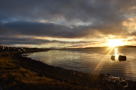 Stanley Harbour by sunset